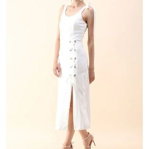 NWT Lace-up Concinnity Cami Dress
